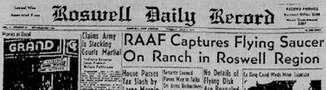 Газета Roswell Daily Record, 8 июля 1947 г.