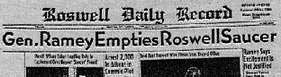 Газета Roswell Daily Record, 9 июля 1947 г.